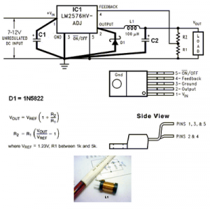 LM2576-ADJ 3V-3A Switching Regulator Circuit.png