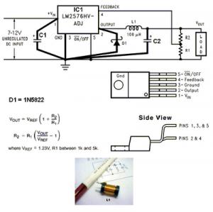 LM2576-ADJ 3V-3A Switching Regulator Circuit.png